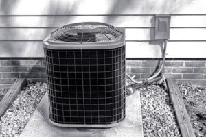 air conditioning condenser unit that needs repair